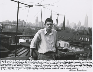 Myself seen by William Burroughs, Kodak Retina new-bought 2'd hand from Bowery hock-shop..., Allen Ginsberg