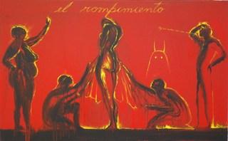 El Rompimiento (part 1 of triptych), José Bedia