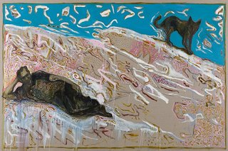 long ago on a deserted beach with a fine beautiful dog (Charles Bukowski)    , Billy Childish