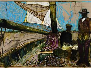 Man Seated (Oyster Catchers, Thames Estuary 1932), Billy Childish
