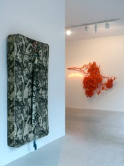 "View of installation ""Beauty is Diamond"" at Laleh June Galerie, Marc Rembold, Julian Schnabel"