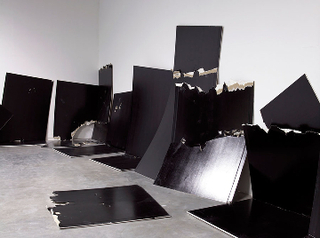 13 Shattered Panels (for Joey Ramone), Steven Parrino