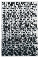 Untitled (Study #1 for Prisoner of Love) ,Glenn Ligon