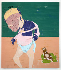 Figure with Pigeon, Nicola Tyson