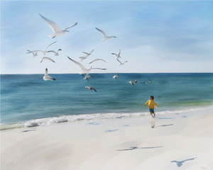 Beach Play, Patricia Gagne