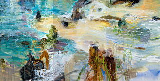 Shoreline Rain, Michael Mazur