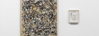 Portrait of Dimitri Medvedev in the Style of Jackson Pollock,