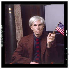Andy with Flag from the \'LOST WARHOLS\' Series, Karen Bystedt