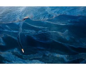 Oil Spill #6: Oil covers the surface of the Gulf of Mexico in the vicinity of BP\'s Deepwater Horizon spill source.  Series: Spill, 17 June, 2010, Gulf of Mexico, United States , Daniel Beltrá