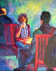 COFFEE CUPS/ CAFE ART Theme Challenge, Loralee Chapleau