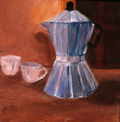 COFFEE CUPS / CAFE ART Theme Challenge, Gabriele Lehmann-Thevissen