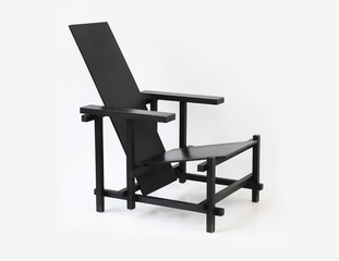 monochrome black \'roodblauwe stoel\'  , Gerrit Thomas Rietveld