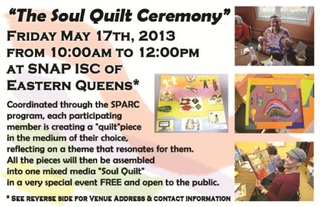 Soult Quilt Ceremony Flyer front,