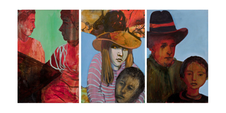 Girl and Yellow Hat Triptych, Alexandra Wiesenfeld