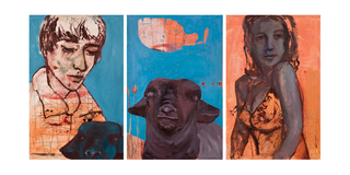 Purple Sheep Triptych, Alexandra Wiesenfeld