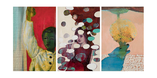Raised Arm and Blue Dog Triptych, Alexandra Wiesenfeld