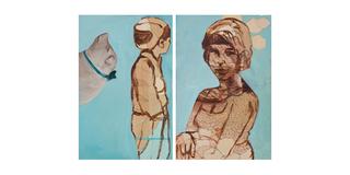 Blue Lady Diptych, Alexandra Wiesenfeld