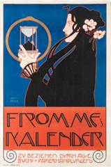 """Poster for """"Frommes Kalendar""""   , Koloman Moser"""