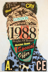 1988 Collage Blue Scarf,A.CE