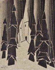 Kapelle im Wald, Lyonel Feininger
