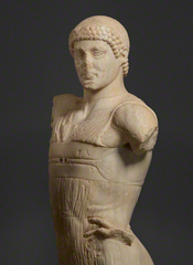 Statue of a Youth (the Mozia Charioteer, detail),