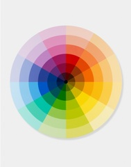 Monchromatic Sectors from Primary, Secondary and Tertiary Colour Ring with Dark Centre ,Damien Hirst