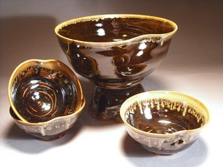 Temoku Bowl Set, Celeste Lida