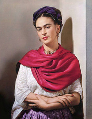 Frida with Magenta Rebozo, New York (The Classic Frida) , Nickolas Muray