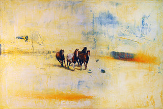 4 Horses in Cream and Blue, Greg Ragland
