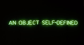 Self-defined object [green], Joseph Kosuth