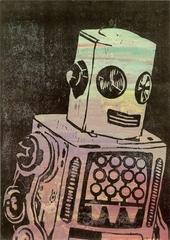 Robot on Black Backgroun, Guy Allott