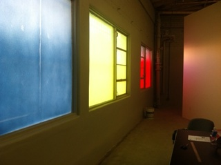 The new Night Gallery space. Windows by Yunhee Min.,