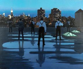 Toasting ( NY Rooftop), Iain Faulkner