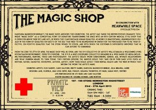 The Magic Shop invite, Karolina Magnusson Murray