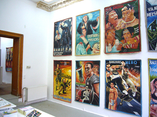 Exhibition view,Film posters from Ghana