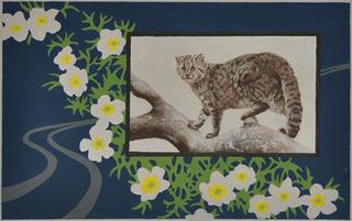 Sonzai shinai: Tsushima leopard cat (detail), Elisheva Biernoff