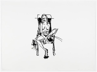 Lonely Chair drawing, Tracey Emin
