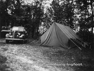 Unrequited love involving bigfoot (fictitious film still), Roger Tilton