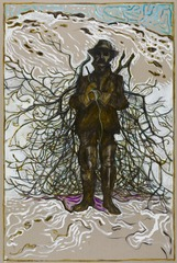 gathering firewood (Survivor 1st Officer Smith of the Farallon, 1910) ,Billy Childish