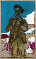 self portrait / hill walker ,Billy Childish