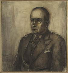 Portrait of Henri van Abbe, Albert Servaes