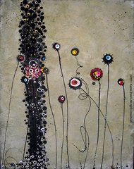 Drip Dot Flower Series (dots in lines), Karrie Ross