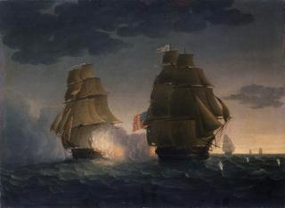 Escape of H.M.S. Belvidera from the U.S. Frigate President , Thomas Buttersworth