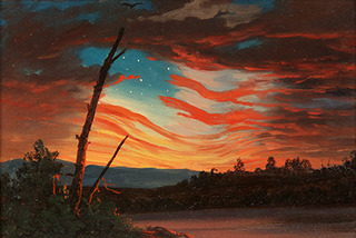 Our Banner in the Sky (detail), Frederic E Church