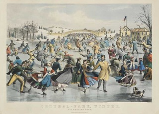 """Central-Park, Winter. The skating pond"" ,"