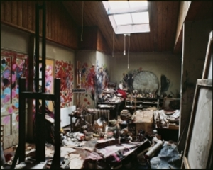 Photograph of Francis Bacon's Studio at 7, Reece Mews, Perry Ogden