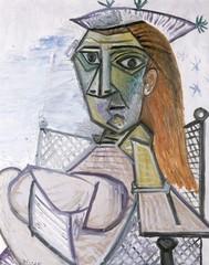 Woman Sitting in an Armchair (Femme assise dans un fauteuil), Pablo Picasso