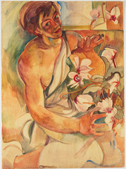 Pegi with cyclamens, Pegi Nicol MacLeod