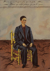 Self-Portrait with Cropped Hair , Frida Kahlo