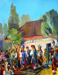 Village Party, Elena Churnosova